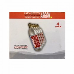 Conjunto 4 cilindros Gás ARGON para dispensador VINOHOME